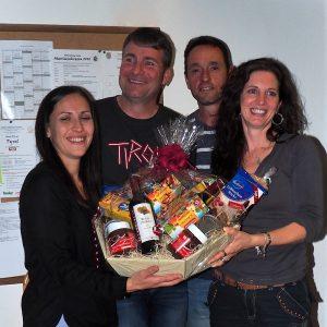 Siegermannschaft (v.l.): Simone Wilhelm, Gerhard Wett, Markus und Petra Soraperra