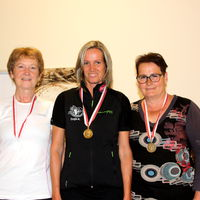 Seniorinnen1 (v.l.): Elisabeth Pfandler (Zams, 2.), Sonja Kaspar (1.), Gabi Jesner (Landeck, 3.)