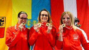 Die siegreichen Seniorinnen (v.l.): Sonja Kaspar, Sabine Jonak, Angelika Sporer
