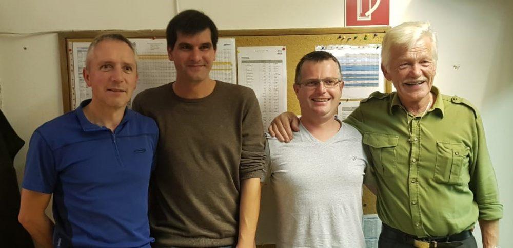 Die Schwarzseher: Hannes Spielmann, Michael Sonnweber, Michael Holzeis, Pepi Widauer