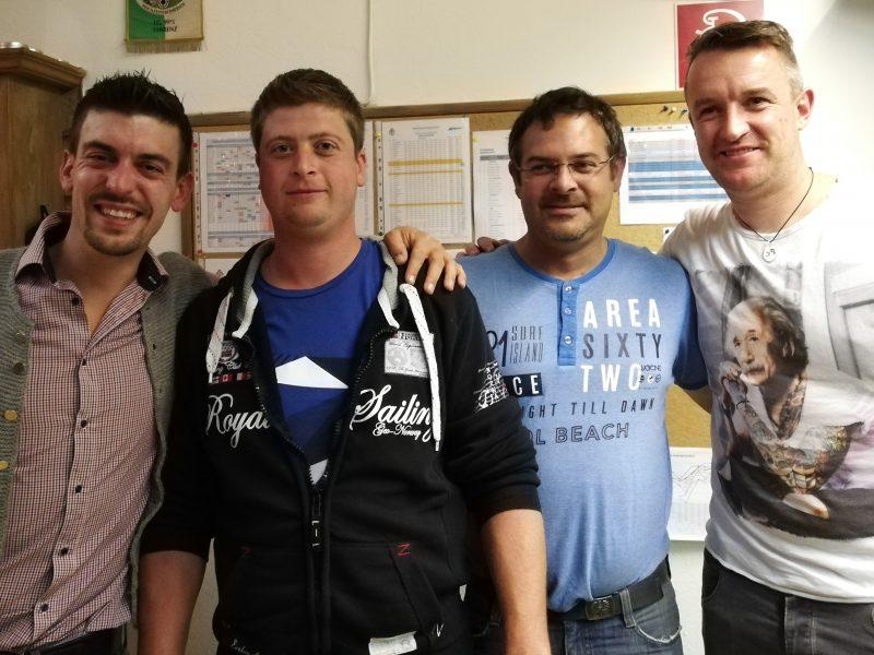 SK Obsteig 2: Arnold Gatt, Tobias Ennemoser, Alexander Mantl, Thomas Mair