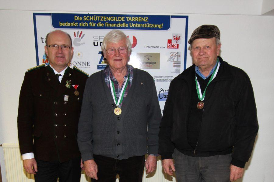 Senioren 3: Bspl. Hermann Novotny, Franz Pöschl, 1. Platz, Franz Knabl (Oetz, 2.)
