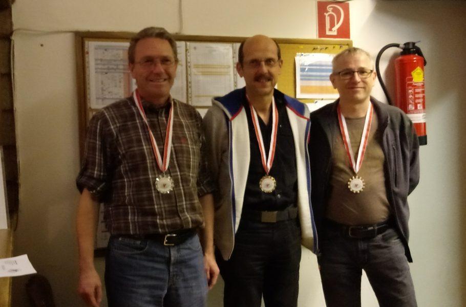 Luftpistole: Thomas Trieb (2.), Ronald Gust (1.), Karsten Koops (3.)