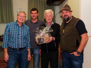 """Die Siegergruppe """"Pumuckl"""": Rochus und Michael Sonnweber, Pepi Widauer, Franky Ganzer-Maurer"""